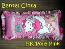 Bantal Cinta Hello Kitty Pony Pink